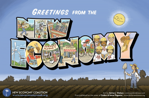 Greetings from the New Economy poster FULL SIZE