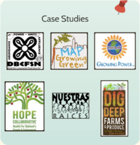 Organizations included in Case Studies for Dudley Real Food Hub Research